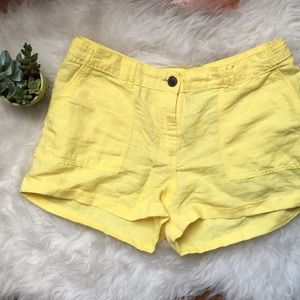 H&M yellow shorts